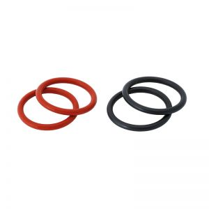 2122 rubber rings Bucephalus - set, 2 pairs (black und red)