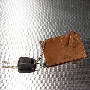 Key case with zip fastener