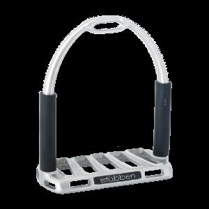 1208 Flexi-Grip Stirrup, Stainless Steel matt