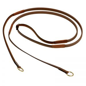 "Rubber Reins ""Slimline"" with rings"